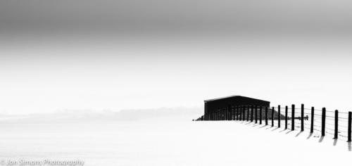 Exmoor snow with barn
