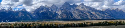 Grand Tetons panorama USA