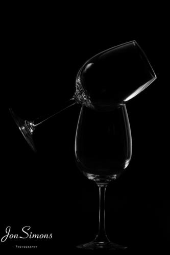 Rim lit wine glasses